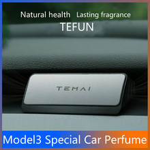 TEFUN Car Air Freshener Instrument Air outlet Aromatherapy Flavor Car Perfume Scent Decor for tesla model 3 X Y Z