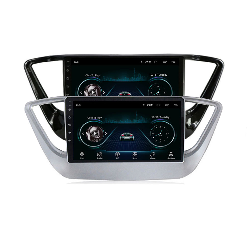 4G LTE Android 10.1 For HYUNDAI Solaris Verna Accent 2017 2018 2019 2020  Multimedia Stereo Car DVD Player Navigation GPS Radio
