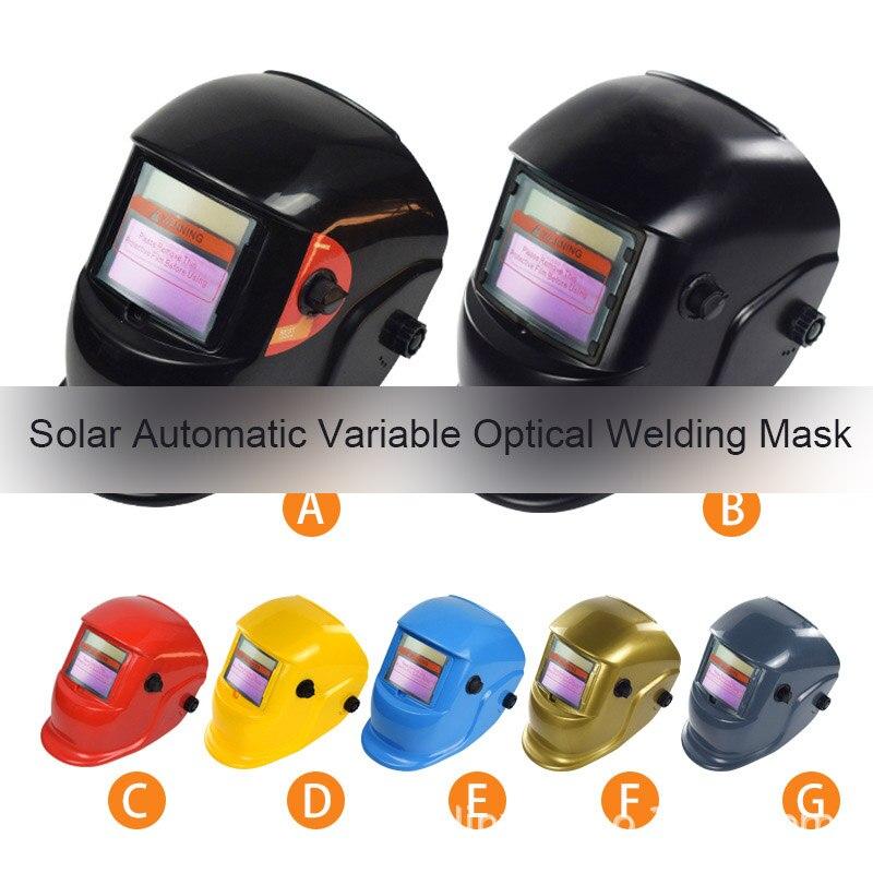 Solar Automático Máscara De Solda Capacete De Soldagem Escurecimento Automático MIG TIG Soldagem a Arco de Soldadura Blindagem Blindagem Ferramenta de Proteção