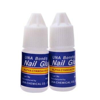 2 Pçs/set 3g Prego Cola Uso para UV Acrílico Pedrinhas Decoração de Unhas Nail Stickers Dicas Falsas Unhas de Alta Qualidade Decoração beleza