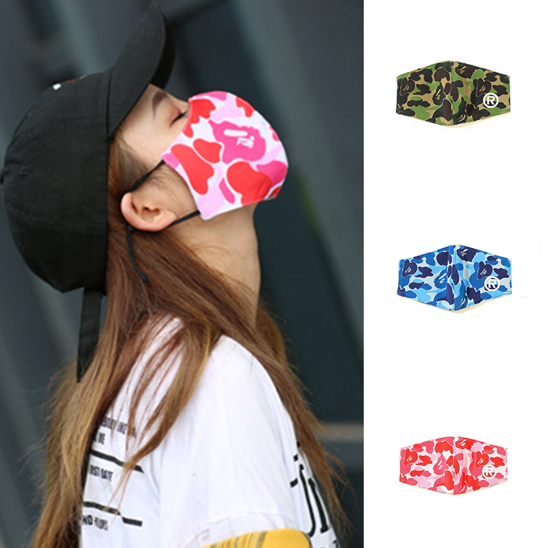 Cotton Blend Mask Print Camouflage Mouth Mask Anti Dust Windproof Mouth-muffle Face Care Windproof Smog Protection Masks