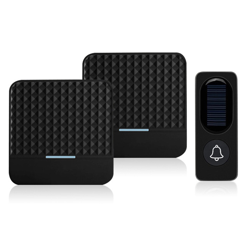 ABKT-300M Remote Solar Wireless Waterproof Doorbell Light Control Sensor With Transmitter + Receiver Doorbell One For Two Kit US