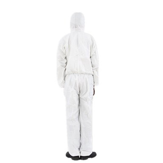 Disposable Coverall Hazmat PPE Suit Dust free Factory Workshop Protective Clothing Hospital Health Protection Safety Clothing 3