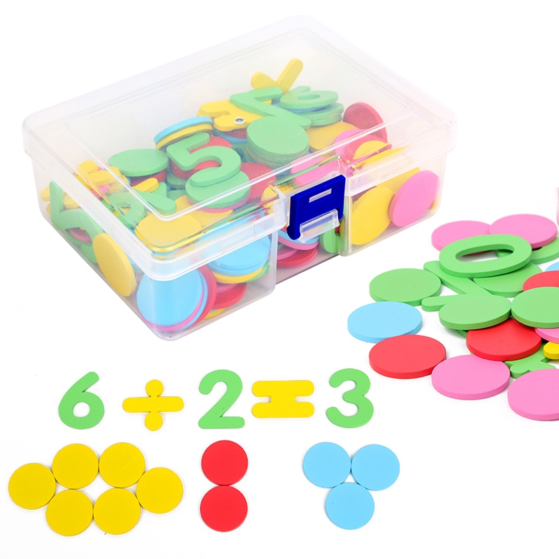 100pcs Figure Arithmetic Baby Math Toys Wooden Circular Color Mathematical Geometry Wood Chip Montessori Educational Toy For Kid