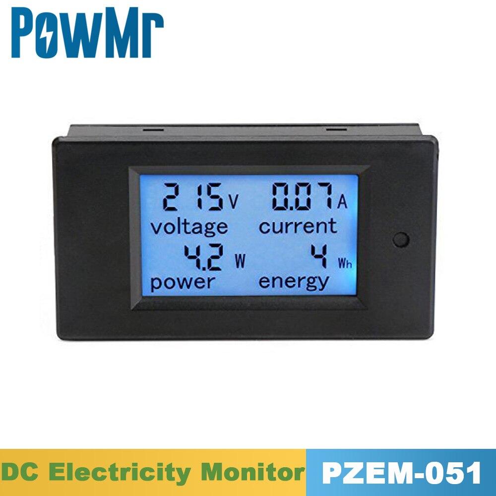 PZEM 0-100A 4 в 1 DC электричества Применение монитор ЖК-дисплей цифровой токовый Вольтметр Амперметр Мощность энергии мультиметр Панель метр тес...