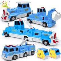 10PCS Construction Engineering Excavator Magnetic Building Blocks DIY Magic Train Truck Vehicle educational Toys For Children 1