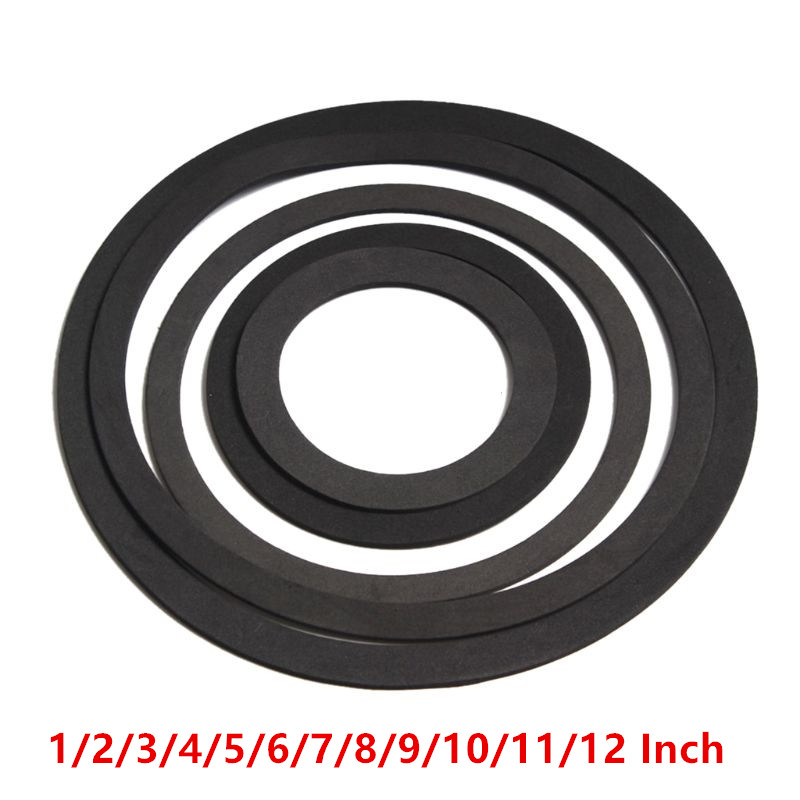 2pcs 3//4//5//6.5//8 inch Speaker Gaskets Loudspeaker Box EVA Sealing Pad Seal Ring