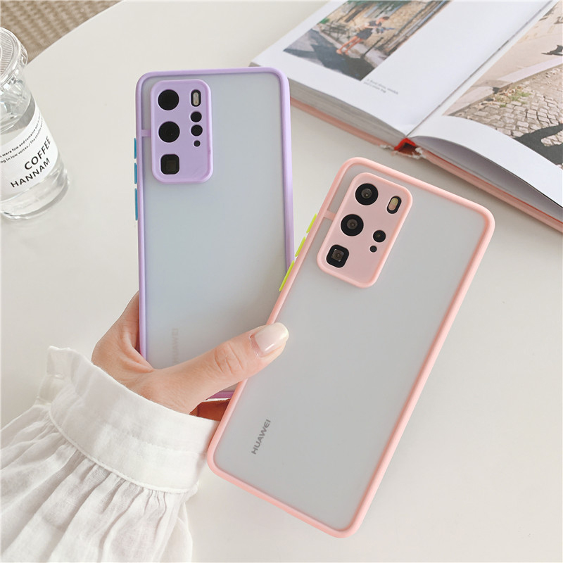 Shockproof  Phone Case Back Cover For Huawei P40 Pro Luxury Translucent Soft Case For Huawei P40 P30 Pro Mate 30 20 Pro Case (8)