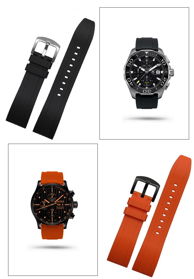 couro 18mm 20mm 22mm pulseira de relógio