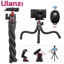 Гибкий штатив Осьминог Ulanzi для смартфонов, дорожный портативный Трипод 2 в 1 для цифровой зеркальной камеры, видеозаписи, iPhone, Huawei