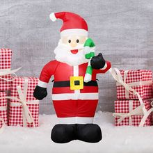 1.2M Led Inflatable Santa Claus Props Christmas Home Garden Party Decorate Toys