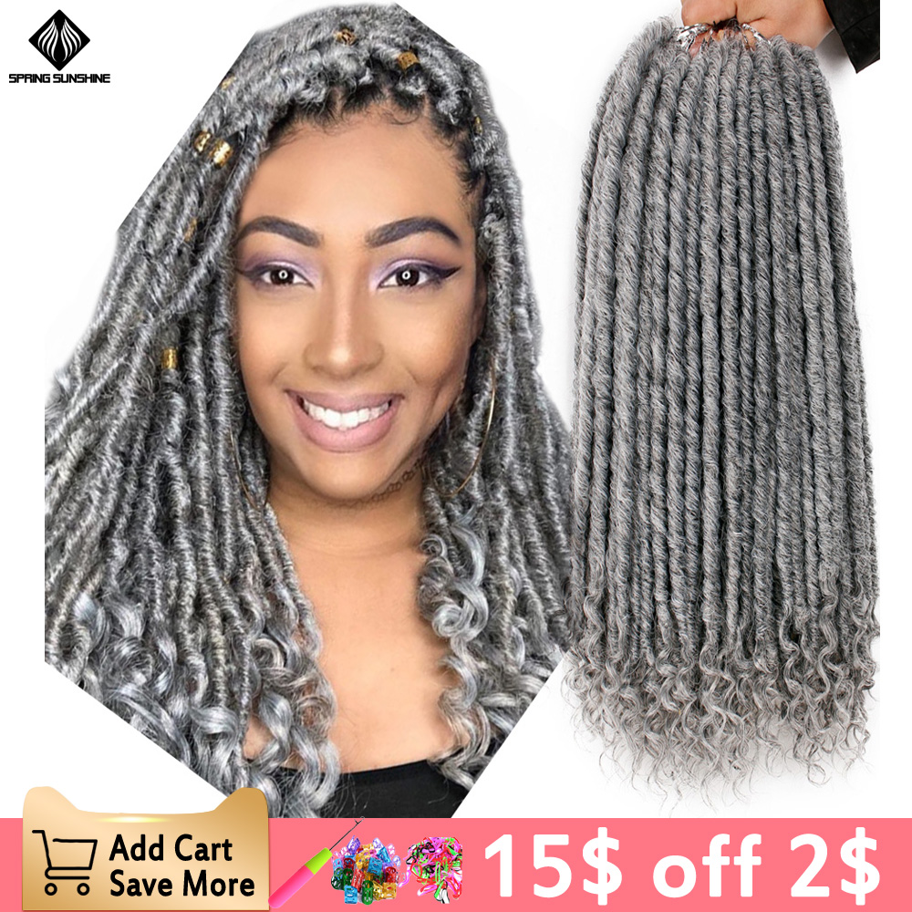 Spring Sunshine 1-10PC Long Straight Locks Faux Locs Crochet Braids 16 20inch Soft  Synthetic Hair Extension 24 Strands/Pack