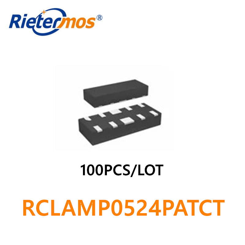 100PCS RCLAMP0524PATCT RCLAMP0524PA.TCT SLP2510P8 QFN TVS  5VWM 15VC 0524P