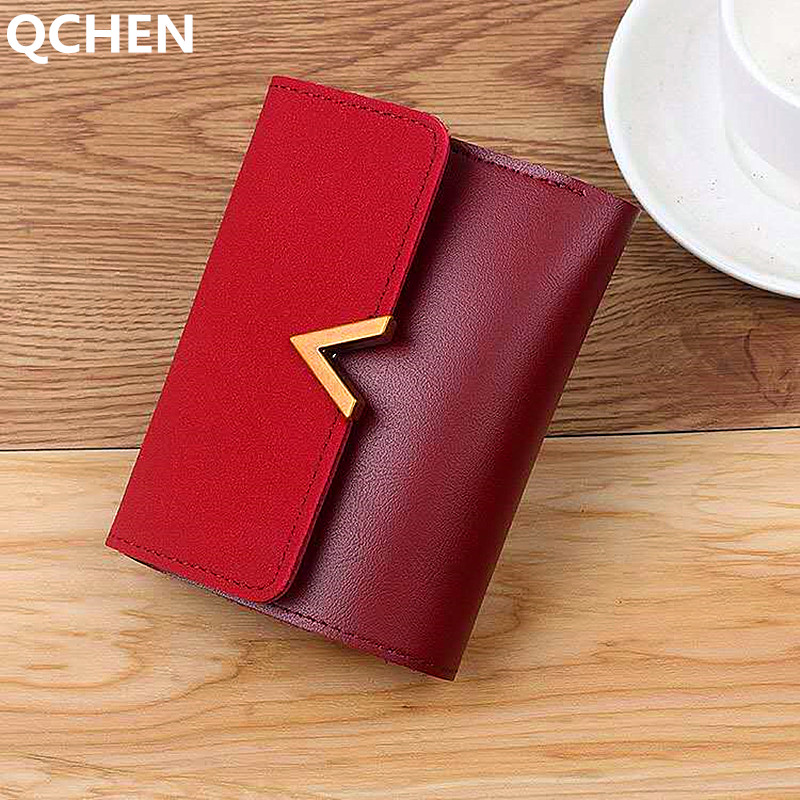 Leather Small Women Wallet Luxury Brand Famous Mini V Women Wallets And Purses Short Female Coin Purse Credit Card Holder 170Q