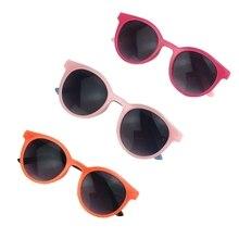 Унисекс овальные солнцезащитные очки УФ-защита очки Мода дети аксессуары