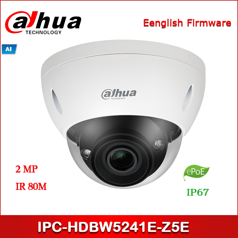 Dahua IP camera IPC-HDBW5241E-Z5E 2MP WDR IR Dome AI Network Camera 7 <font><b>mm</b></font>–35 <font><b>mm</b></font> motorized <font><b>lens</b></font> with ePOE image