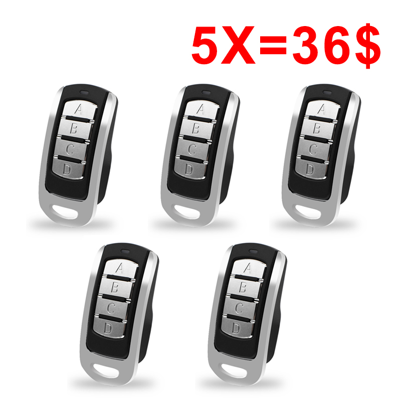 5pcs Auto Scan 433.92mhz 868.35MHz Remote Control Duplicator Garage Command Gate Door 433MHz Remote Controller Rolling Code
