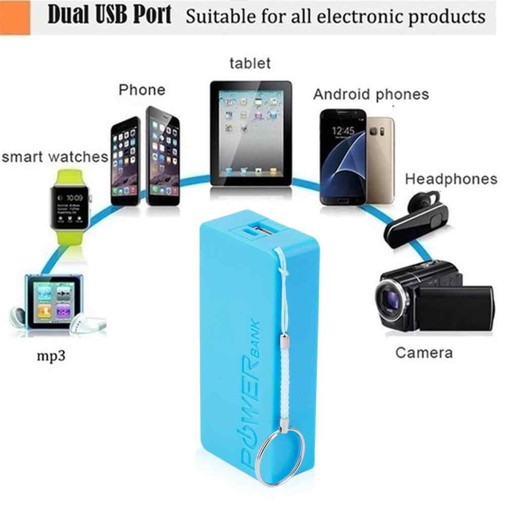 5600mAh 5 فولت USB لتقوم بها بنفسك Powerbank حافظة المحمولة الخارجية 2X18650 حافظة بطاريات صندوق علبة صندوق شحن صندوق شل ل الهواتف المحمولة