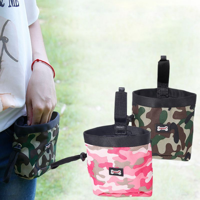 Pet Dog Puppy Pouch Walking Food Treat Snack Bag Agility Bait Training Pockets Waist Storage Hold