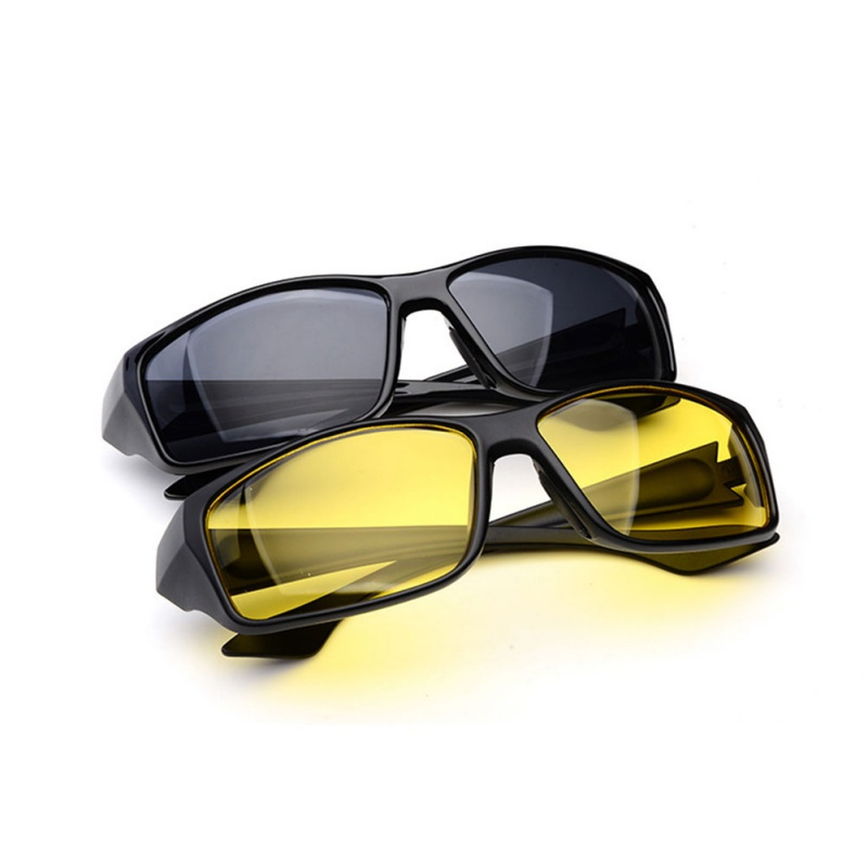 New Sunglasses Night Vision Sunglasses Men Fashion Polarized Night Driving Enhanced Light Glasses Anti-reflection Sunglasses