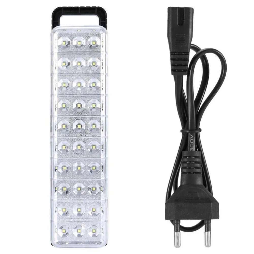 Impermeable 30LED Multi-función recargable luz de emergencia linterna Mini 60 LED luz de emergencia lámpara para casa campamento al aire libre