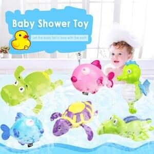 Water-Toy Chain Tortoise Clockwork Classic Animal Swim-Turtle Cartoon Wound-Up Baby Cute