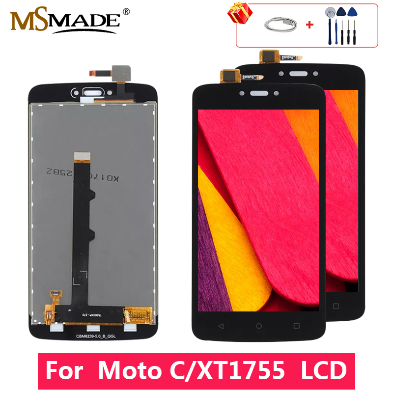 For <font><b>Motorola</b></font> Moto C XT1750 XT1755 <font><b>XT1754</b></font> LCD Display Touch <font><b>Screen</b></font> Digitizer Replacement Parts With Frame Free Shipping image