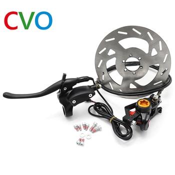 цена на Electric Bicycle Hydraulic Disc Brake Set Car Pliers Clamp Mountain Bike Brake Upgrade Modified Oil Brake