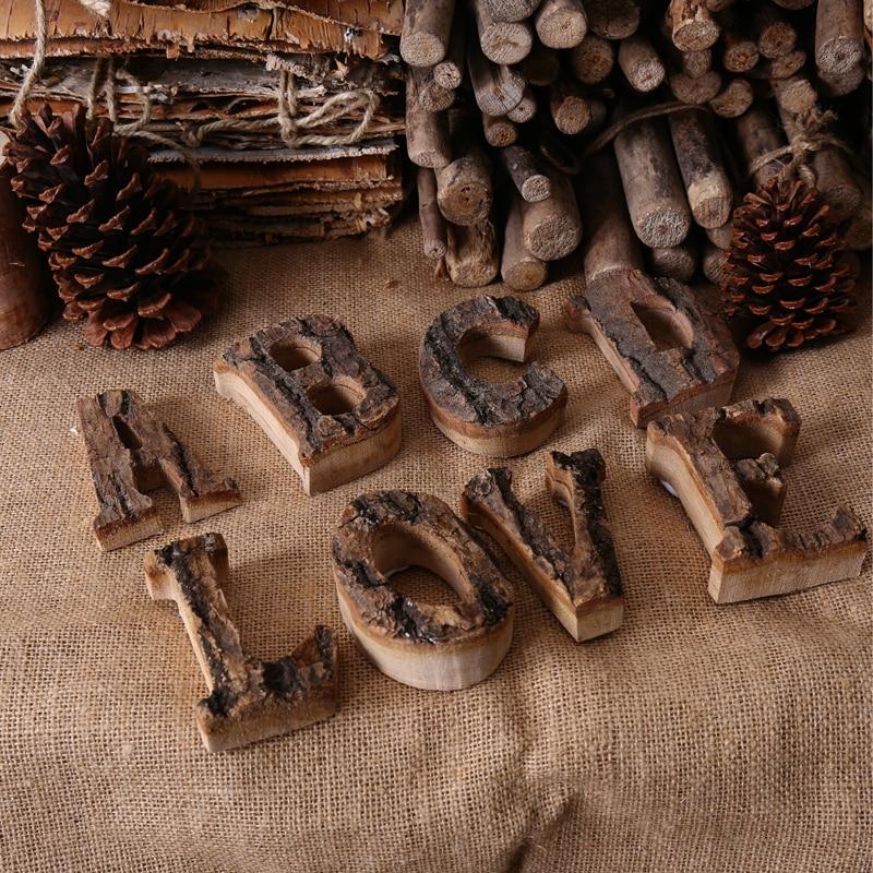 В стиле ретро с буквами алфавита из массива дерева в виде букв алфавита для кафетерия, бара, украшение для дома, винтажные буквы «сделай сам»