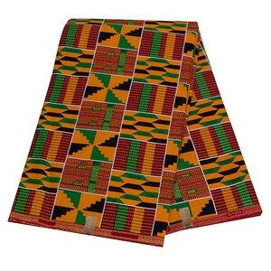 Image 5 - 2020 רויאל שעווה בטיק הדפסי אפריקה בד השמפניה 100% כותנה אנקרה קנט אמיתי שעווה Tissu האיכות הטובה ביותר עבור מפלגה שמלה handmake