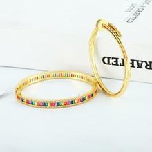 Ouro de luxo pulseiras femininas cristal zircônia cobre ajustável aberto prego pulseira cobra leopardo pulseira jóias