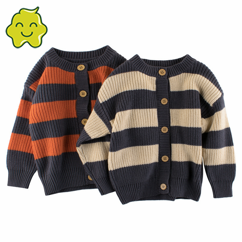 Baby Cardigan Child Sweater O-Neck Single Breasted Spring Autumn Knitted Sweater Kids Clothes Knit Jacket Long Sleeve Clothing