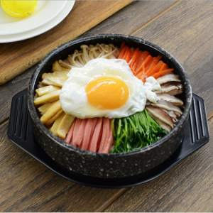 Pot Casserole Baking-Pot Kitchen-Supplies Bibimbap Ceramic Stone-Pattern Korean-Stone