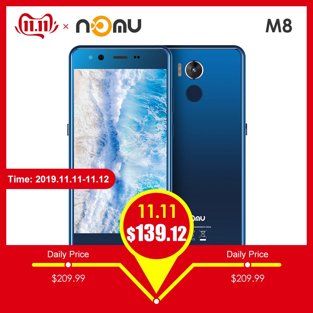 NOMU M8 4G Smartphone 5.2 inch Android 7.0 MTK6750T Octa Core 1.5GHz 4GB RAM 64GB ROM 21.0MP Rear Camera 2950mAh Cellphones-in Cellphones from Cellphones & Telecommunications