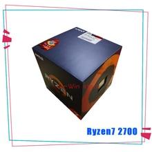 새로운 AMD Ryzen 7 2700 R7 2700 3.2 GHz 8 코어 sinten 스레드 16M 65W CPU 프로세서 소켓 AM4 쿨러 냉각 팬