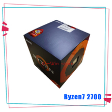 Nieuwe Amd Ryzen 7 2700 R7 2700 3.2 Ghz Acht Core Sinteen Draad 16M 65W Cpu processor Socket AM4 Met Cooler Cooling Fan