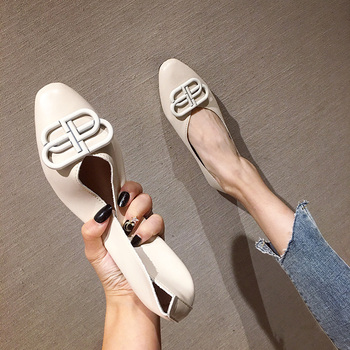 Ballet flats Zapatos De Mujer Zapatos Mujer 2019 PU Loafers Women flats Basic Solid Casual Slip-on Rubber Round Toe Shallow 2017 summer spring women ballet flats round toe slip on shoes woman flower bowknot loafers vintage zapatos mujer canvas