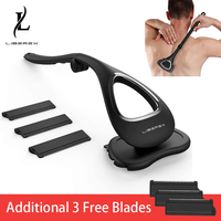 Liberex Back Shaver for Men Folded Razor Dry Wet Shaving Manual Hair Removal 18 Inch Adjustable 6 Blades Body Groomer Trimmer 1