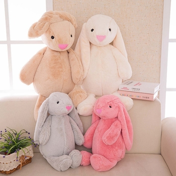 The Bunny Plush Regular Animal Solid Baby  Toy Party Birthday Kids Gifts Rabbit Sleeping Comfort Soft doll Toy Stuffed