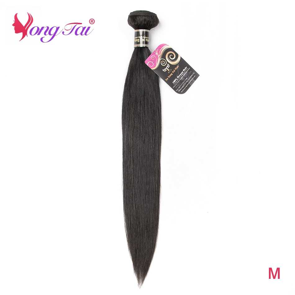 YuYongtai Hair Peruvian Straight hair Nature Black Color Weaving One Bundle 100% human hair Remy Extension 10-26 inches M