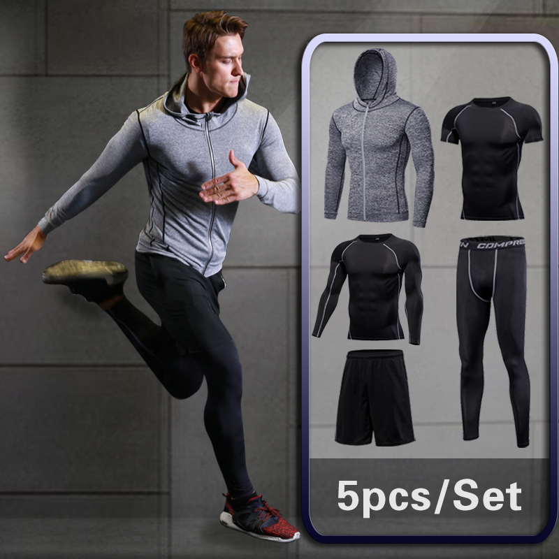 Men Gym Fitness Clothing Sportswear Workout Tights Compression Suits Mens Running Set