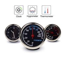 Round Shape Car Automobile Digital Clock Auto Watch/Thermometer/Hygrometer Car Interior Decoration Ornament Car Styling