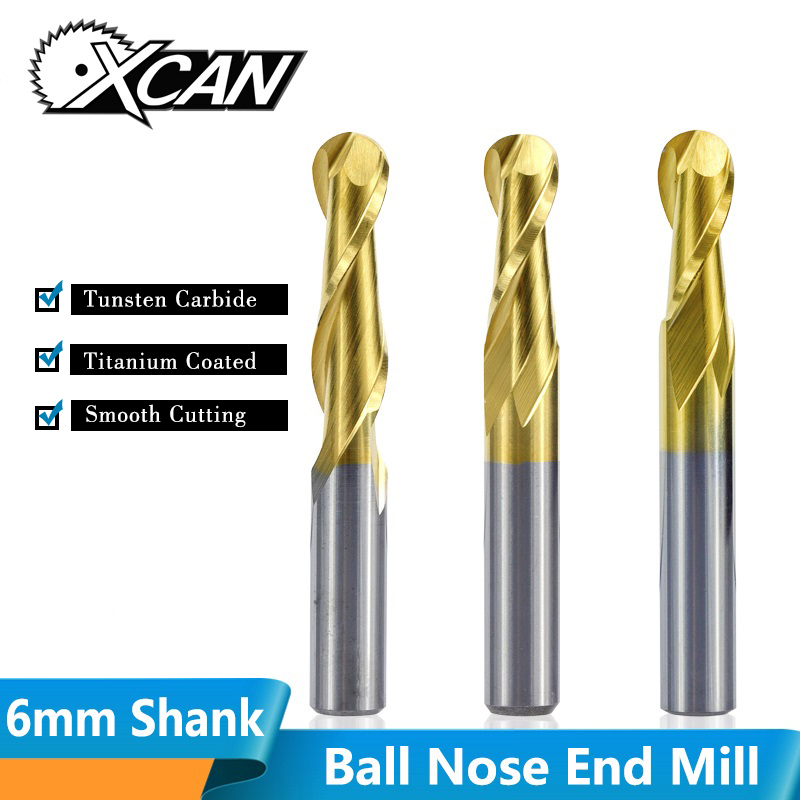 6MM Solid Carbide End Mills For Aluminum 6MM Shank CNC Engraving Carving Bits