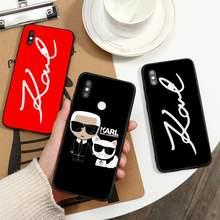 Lagerfeld marca designer karls caso de telefone para xiaomi redmi nota 7 8 9 t k30 max3 9 s 10 pro lite