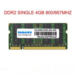 RAMAIGO DDR2 4 ГБ 8 ГБ PC2 DDR2 один 4 Гб 667 МГц 800 МГц 5300s 6400s лэптоп ноутбук Память RAM 4 Гб