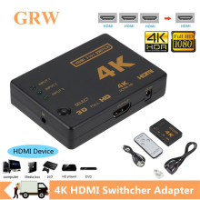 Grwibeou 4K 2K 3x1 HDMI كابل الفاصل HD 1080P محول فيديو محول 3 المدخلات 1 منفذ الإخراج HDMI Hub ل Xbox PS4 DVD HDTV PC