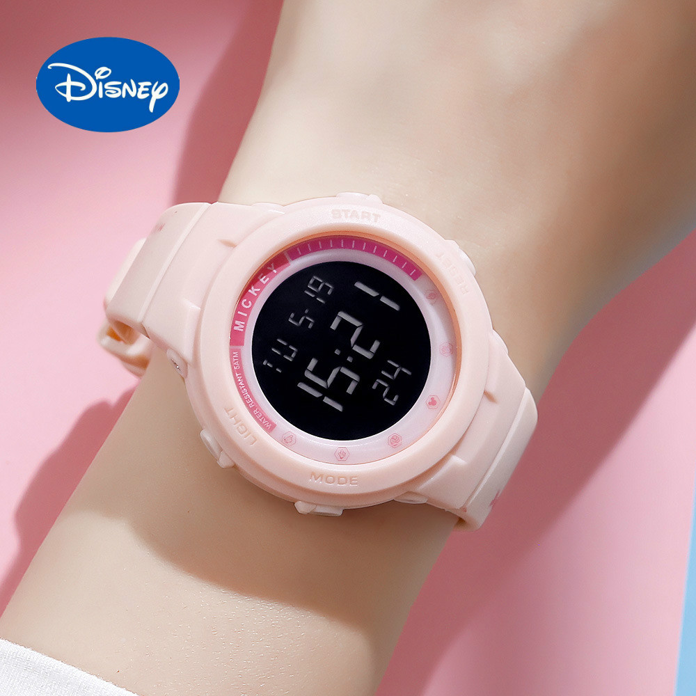 Оригинальный Disney Многофункциональный Спорт Девушка Часы Микки Водонепроницаемый Электронный Часы Мальчик Студент Дети Часы