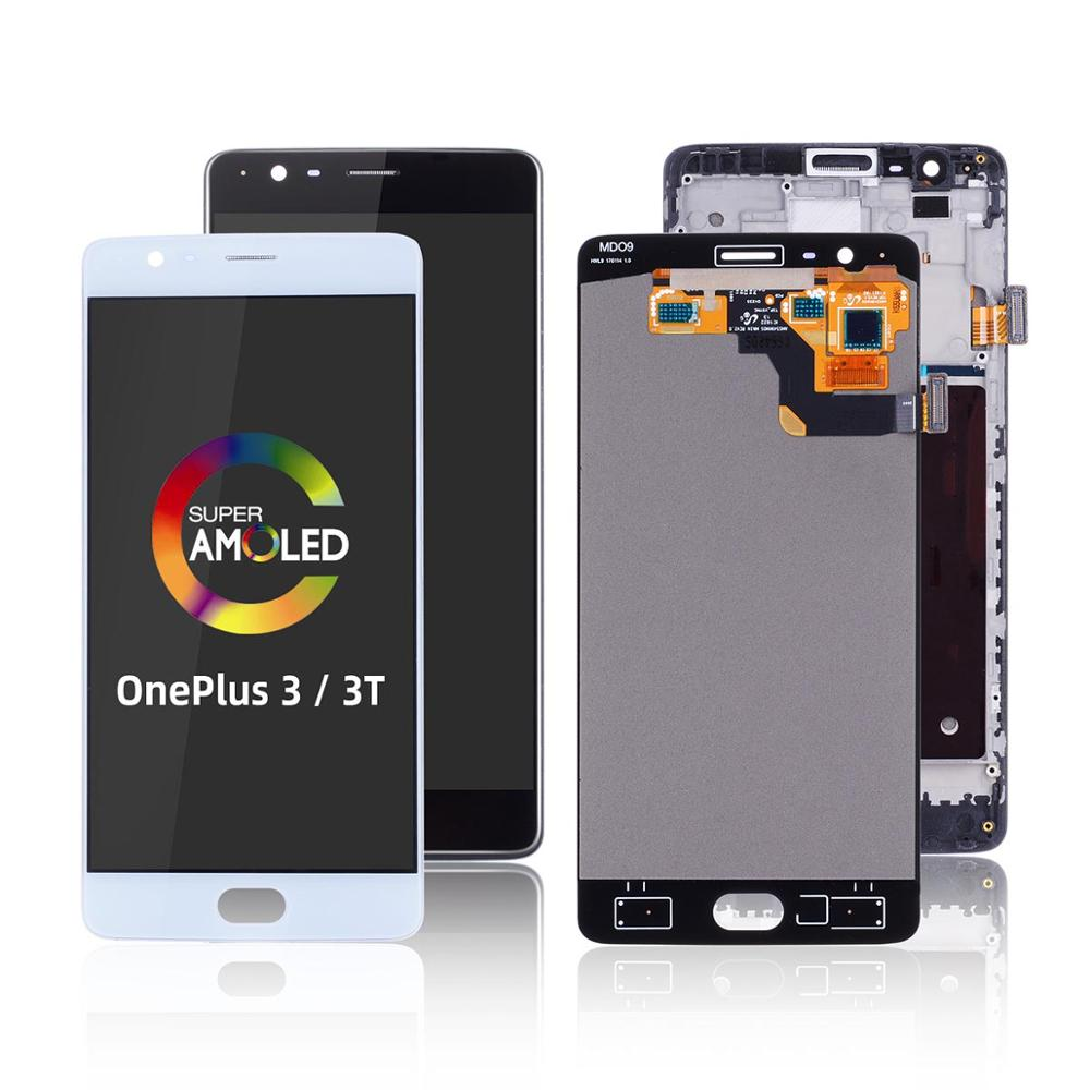 Replacement Replace On Touch Screen For Oneplus 3 Display Digitizer LCD Screen Assembly Display For Oneplus 3