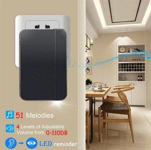 Image 2 - SMATRUL kendi kendine çalışan kablosuz kapı zili su geçirmez hiçbir pil İngiltere tak akıllı ev kapı zili chime 1 verici 1 2 alıcı