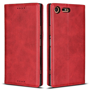 High Magnetic Leather Flip Cases For Sony Xperia XZ Premium Cover Case Moble Phone Accessories Hoesjes Book Bag Card Slot Stand